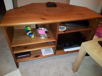 Set of tv unit, shelf unit, storage ottoman