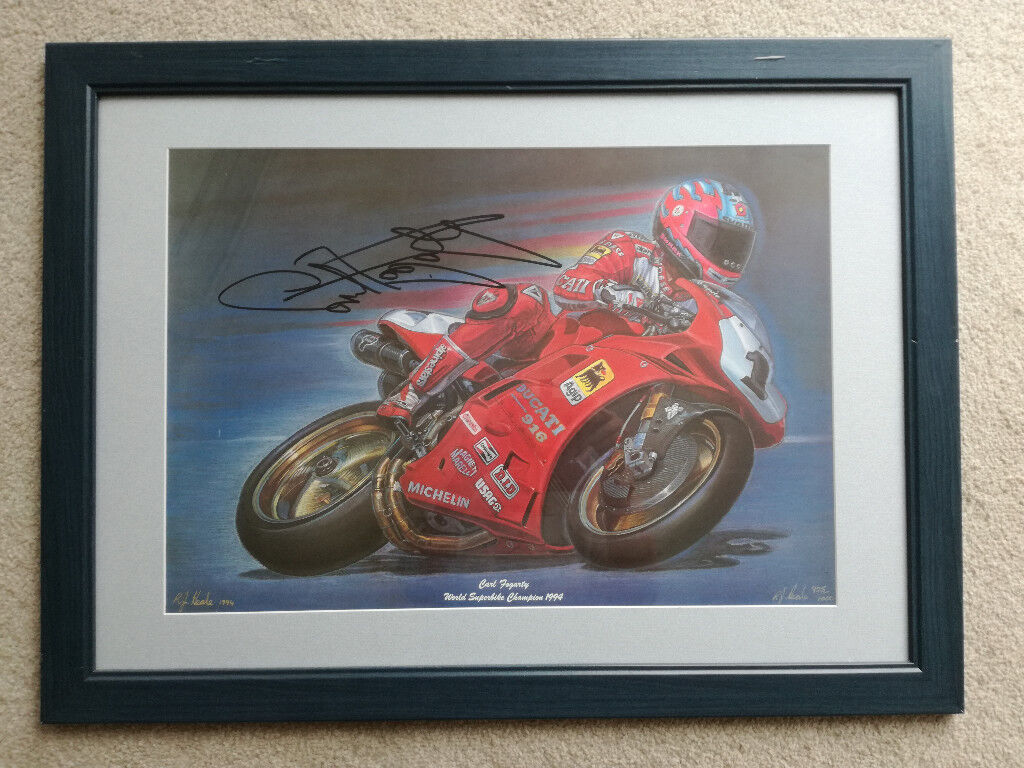 Carl Fogarty Foggy WSB signed R J Neale limited edition painting Christmas present