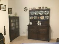 Welsh dresser and book case