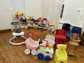 Large amount of children's toys.