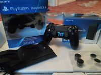 Ps4 1Tb+2Dualshok+Charging Dock+Ps Tv all in box