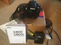 Nikon D800 D-SLR Camera with original packaging - amazing condition - hardly used