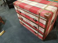 Red 3 drawer cabinet