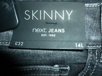 BNWT - NEXT Black Jeans with Ankle Popper Detail