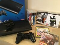 Super Slim PS3 Console 12GB + Official Controller + 9 Playstation 3 Games inc & Uncharted 3 & More