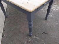 Antique Pine Scrub Top Dining/Kitchen Table REDUCED