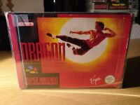 Dragon The Bruce Lee Story Super Nintendo SNES Boxed!