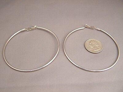 Big hoop earrings Silver huge giant 4