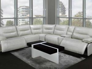 High Grade Power Leather Sectional  (KA217)