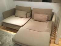 Two seater sofa chaise longue