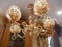 *1 SOLD, 1 AVAILABLE!!* QUALITY SOLID & TRADITIONAL 5-lamp BRASS CHANDELIERS *Check out all our ads*