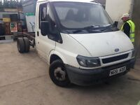 Ford transit T 350 can shassie 51 plate