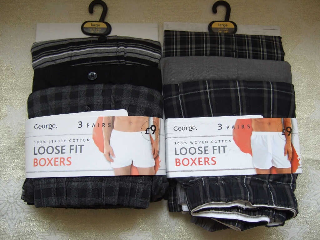 George (Asda) Mens boxer shorts Large, brand new / unused. | in ...