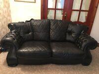 Leather 3 piece suit