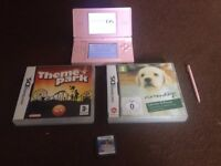 Nintendo DS with 3 games including Mario 64 DS