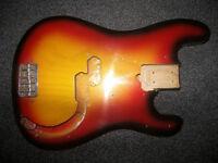 BASS Fender , Squier , Precision Bass , P-Bass Style Body.