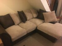Corner sofa for sale. Very good condition. Needs to be sold by 5th September!!