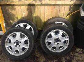 17 inch alloy wheels with tyres