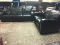 Like new California black two and three seater leather