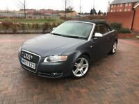 2007/07 AUDI A4 2.0 TDI SPORT AUTOMATIC CONVERTIBLE LOW MILEAGE