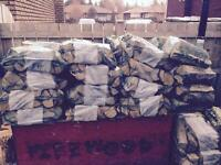 Seasoned Bagged Firewood for Sale
