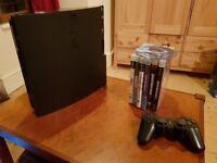 PS3 Slim - 230GB - 1 Controller - 7 Games