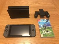 Nintendo Switch Grey with Zelda Breath of the Wild game