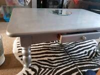 Large silver coffee table