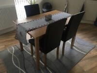 Dining Table + 3 Chairs