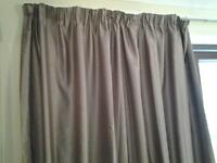 Mocha coloured lined curtains