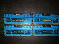 16GB DDR3 Corsair Vengeance RAM - 1866MHz - 4x 4GB