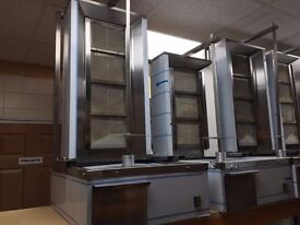 CATERING COMMERCIAL NEW GAS DONER KEBAB SHAWARMA GRILL MACHINE FAST FOOD RESTAURANT TAKE AWAY SHOP