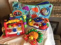 Toy box full of toys
