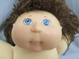 BIG-XAVIER-ROBERTS-CABBAGE-PATCH-KID-BROWN-HAIR-BLUE-EYES-NO-CLOTH-PLUSH-CPK