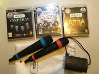 PlayStation 3 Singstar games and wireless microphones