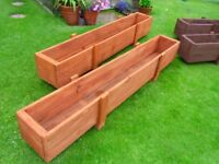 Extra Large wooden Planters/Troughs