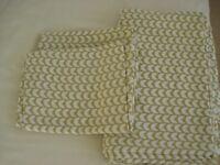 IKEA DUVET COVER + 2 PILLOWCASES FOR SINGLE BED IN GREEN & CREAM DESIGN
