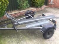 Heavy duty Galvanised Motorbike Trailer + ramp