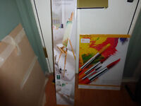 Beechwood Easel and 2x 10 Canvass Blocks- New
