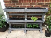 Hand made vertical herb garden