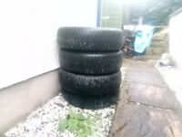 4 X Winter Tyres (Good Year) 195/65R15 91T. Used for 10K Miles