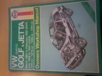 HAYNES VW GOLF & JETTA MANUAL 84'-92'