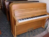 KNIGHT K 10 SMALL OVER STRUNG RE POLISHED PIANO £550 CAN DELIVER
