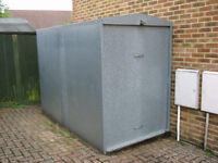 Bikesafe 250W secure motorcyle / bike garage with up and over door