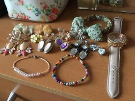 Joblot of jewellery and a next watch