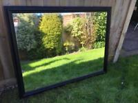 Large mirror, black painted frame