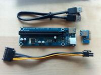 USB 3.0 PCI-Express 1x To 16x Extender Riser Card