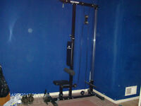 Lat pulldown/cable row machine