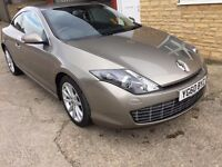 IMMACULATE RENAULT LAGUNA TOM TOM COUPE. FULL HISTORY, FRESH SERVICE. LONG MOT. 24 MONTH WARRANTY