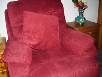 Two seater sofa, matching single chair and cushions, as new. Buyer collects.